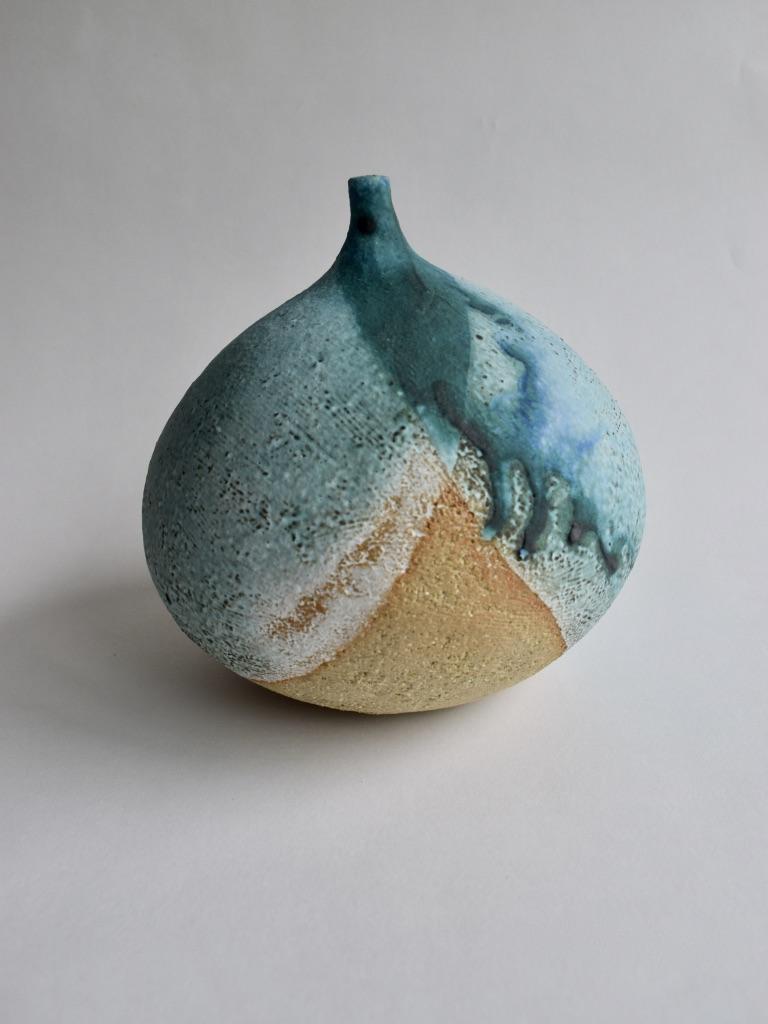 Stoneware Large Spherical Bottle