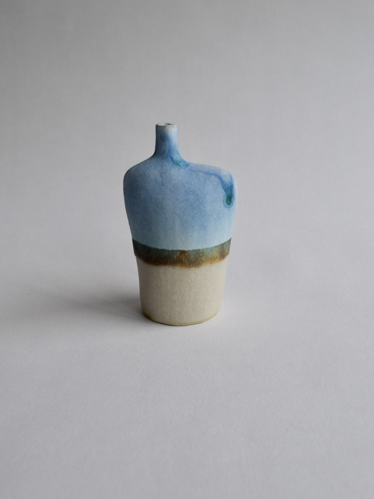 Stoneware Small Landscape Bottle