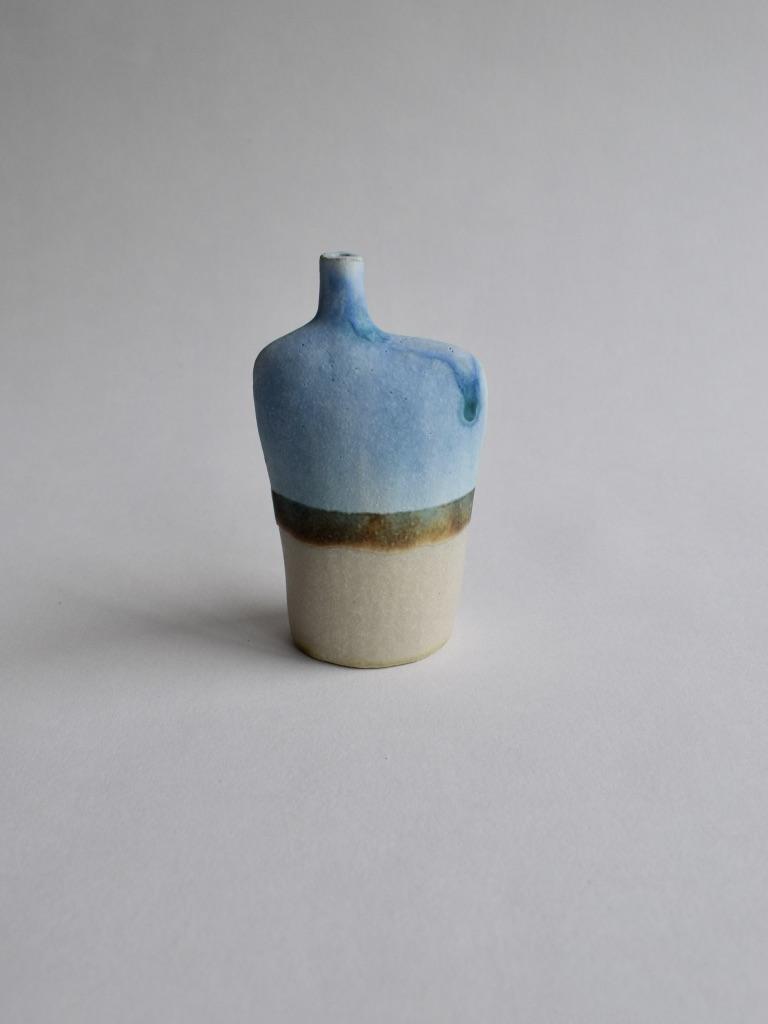 Stoneware Small Landscape Bottle