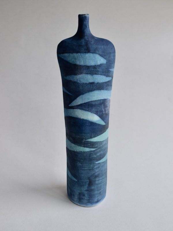 Stoneware Tall Waves Bottle