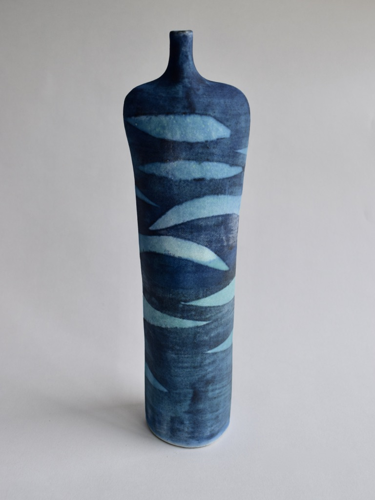 Stoneware Tall Waves Bottle