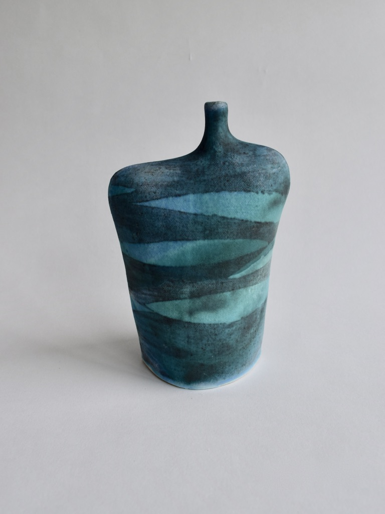 Stoneware Wide Waves Bottle