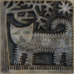 Ceramic Relief 'Hairy Cat'