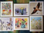 6 assorted greetings cards by various artists