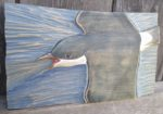 Relief Wood Carving House Martin