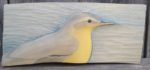 Relief Wood Carving Yellow Wagtail