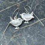 Silver Wren Drop Earrings
