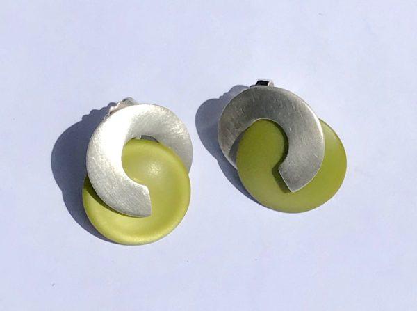 Cellulose Acetate Gabo Stud Earrings