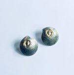 Silver Stud 'Birds Nest' Earrings