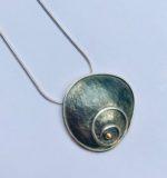 Silver & Gold Spiral Pendant