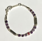 Amethyst and Amazonite Silver Bracelet