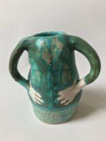 Ceramic Cardigan Lady Vase