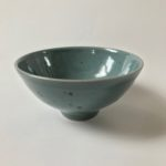 Blue Green Speckled Stoneware Bowl