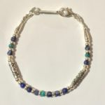 Lapis and Turquoise Silver Bracelet