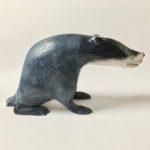 Hand Carved Wood Badger