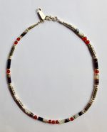 Silver Necklace with Banded Agate