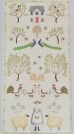 "Original Acrylic Folk Art ""Sampler'"