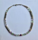 Silver Necklace with Fluorite