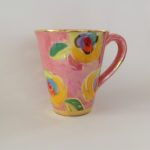 Ceramic Pink Lustre Rose Mug