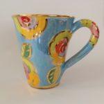 Ceramic Pale Blue Rose Mug