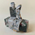 Ceramic Sculpture Holding Hands