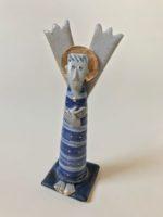 Ceramic Sculpture Surprised Angel