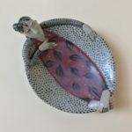 Ceramic Sculpture Happy Dishy Lady