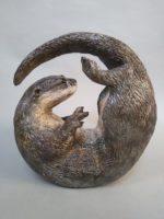 Raku Fired Otter curl