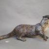 Raku Fired Hungry Otter