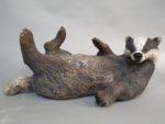 Raku Fired Badger Belly