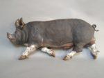 Raku Fired Berkshire Boar
