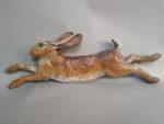 Raku Fired Leaping Hare