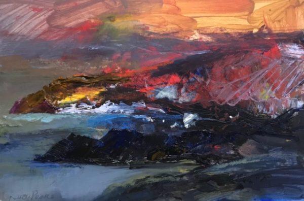 'Wild Ceredigion Sundown Acrylic on Board