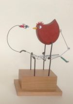 Wooden Automata Fly and Hen