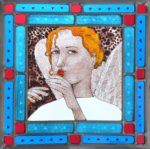 Stained Glass 'Angel' Panel