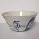 Porcelain Bowl Wading Heron