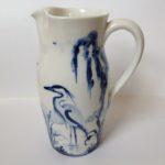 Porcelain Jug Wading Heron