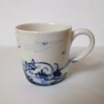 Porcelain Expresso Mug Cat