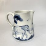 Porcelain Concave Jug 'Elephant'
