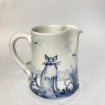 Porcelain Concave Jug 'Cats'