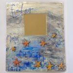 Papier Mache Starfish Mirror