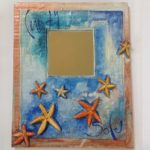Papier Mache 'Starfish' Mirror