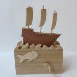 Galleon at Sea Wooden Automata