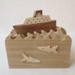 Ship at Sea Wooden Automata