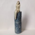 Ceramic Sculpture Nude on Plinth