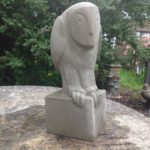 Hand Carved Stone Sculpture'Owl'