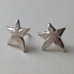 Silver Stud Starfish Earrings