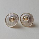 Silver & Gold Stud Earrings