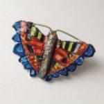 Papier-Mâché Tortoiseshell Butterfly Brooch