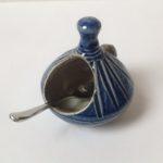 Salt Glaze Blue Salt Pot